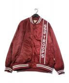 BEAMS SSZ(ビームスエスエスゼット)の古着「552ドロップスタジャン」 エンジ
