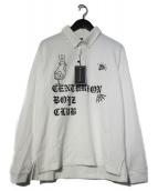 CENTURION BOYZ CLUB(センチュリオン ボーイズクラブ)の古着「L/S POLO SHIRTS ポロシャツ」|ホワイト