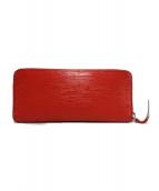 LOUIS VUITTON(ルイ ヴィトン)の古着「ポルトフォイユ・クレマンス 長財布」|レッド