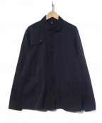 Ys(ワイズ)の古着「ガンパッチ付きウールギャバシャツジャケット」 ネイビー
