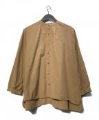 休日と詩(キュウジツトウタ)の古着「アコースティックシャツ」|ブラウン