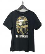 BAPE BY A BATHING APE(ベイプバイアベイシングエイプ)の古着「サルカモTシャツ」|ブラック