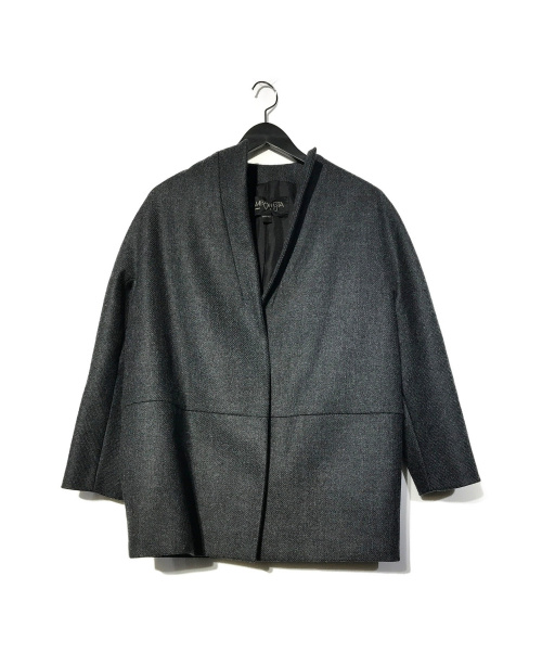 GIAMBATTISTA VALLi(ジャンバティスタ・バリ)GiAMBATTiSTA VALLi (ジャンバティスタ ヴァリ) ウールカラーレスジャケット コート グレー サイズ:38/XXSの古着・服飾アイテム