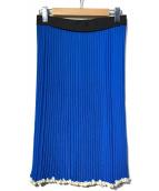 CELINE(セリーヌ)の古着「プリーツニットスカート」|ブルー