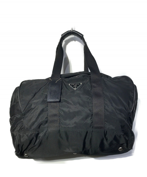 PRADA(プラダ)PRADA (プラダ) ボストンバッグ ブラック 89の古着・服飾アイテム