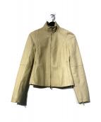 LOEWE(ロエベ)の古着「裏地アナグラム柄ラムレザージャケット」|ブラウン
