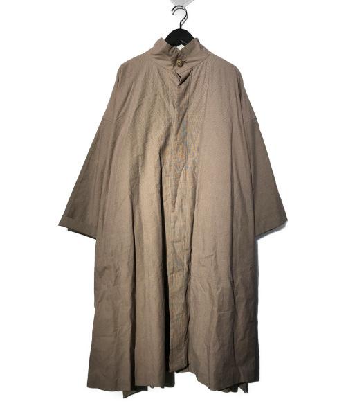 GALERIE VIE(ギャルリーヴィー)GALERIE VIE (ギャルリーヴィー) コットンウォッシュドスタンドカラーコート グレー サイズ:36 20SSの古着・服飾アイテム
