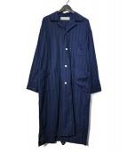PHINGERIN × BEAUTY&YOUTH(フィンガリン × ビューティ&ユース)の古着「パジャマコート」|ネイビー