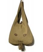 mina perhonen(ミナペルホネン)の古着「USA BAG ウサバッグ トートバッグ ハンドバッグ」|ベージュ×グレー