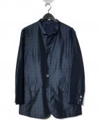 LANVIN(ライバン)の古着「シルク混テーラードジャケット」|ネイビー
