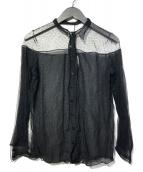 CHANEL(シャネル)の古着「シルク混シースルーブラウス」|ブラック