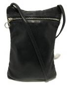 ()の古着「レザーミニショルダーバッグ」|ブラック