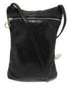 Aeta(アエタ)の古着「レザーミニショルダーバッグ」 ブラック