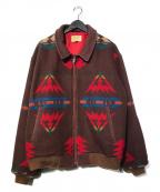 PENDLETON(ペンドルトン)の古着「80sネイティブ柄ウエスタンジャケット」|レッド