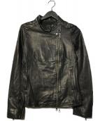 BARNEYS NEWYORK(バーニーズ・ニューヨーク)の古着「ラムレザージャケット」 ブラック