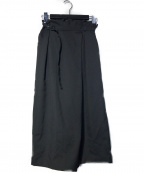ANAYI(アナイ)の古着「ウールカルゼタックガウチョパンツ」|ブラック