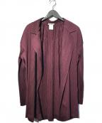 ISSEY MIYAKE(イッセイミヤケ)の古着「プリーツジャケット」|ボルドー