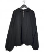 MONITALY(モニタリー)の古着「Cropped Half Zip Sweat」|ブラック