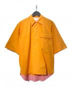 Bagutta(バグッタ)の古着「POLOC プルオーバーシャツ」|オレンジ