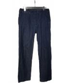 ()の古着「Cotton Linen Denim Trousers 」|インディゴ