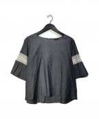 AMACA(アマカ)の古着「セレーナローンブラウス」 グレー