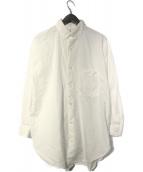Traditional Weatherwear(トラディショナルウェザーウェア)の古着「BIG TUCK UP SHIRT BD」|ホワイト
