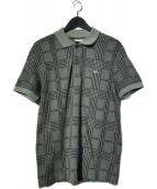 LACOSTE(ラコステ)の古着「グレンチェックポロシャツ」|グリーン