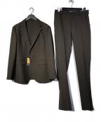 COMME CA MEN(コムサメン)の古着「トリクシオン パッカブル2Bシングル スーツ」 ブラウン