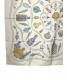 中古・古着 HERMES (エルメス) カレ90 香水瓶  シルクスカーフ ベージュ サイズ:90㎝ シルク100% Pourvu Qu On Ait Livres:12800円