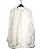 SUZUKI TAKAYUKI(スズキタカユキ)の古着「one-piece shawl-collar shirt」 ホワイト