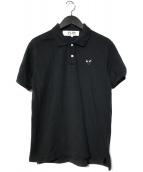 PLAY COMME des GARCONS(プレイコムデギャルソン)の古着「ロゴポロシャツ」|ブラック