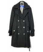 ()の古着「カシミヤ混コート」 ブラック