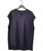 UNFIL(アンフィル)の古着「Linen Honeycomb-Knit Vest ベスト」|パープル