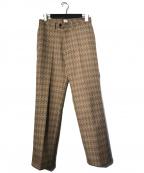 kaiko(カイコー)の古着「THE PREST SINGLE ARGYLE PANTS」|ブラウン