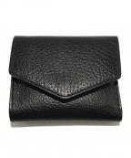 Maison Margiela 11(メゾンマルジェラ 11)の古着「ブラックエンベロープウォレット 3つ折り財布」|ブラック