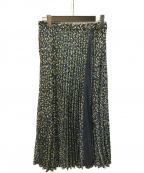 UNTITLED(アンタイトル)の古着「ヴィンテージ風フラワープリントプリーツスカート」|イエロー