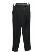 ()の古着「サイドジップテーパードパンツ」 ブラック