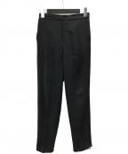 UNTITLED(アンタイトル)の古着「サイドジップテーパードパンツ」|ブラック