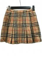 Burberry's(バーバリーズ)の古着「ノバチェックウールミニスカート」 ベージュ