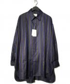Luis(ルイス)の古着「マルチストライプテールシャツ」|ネイビー