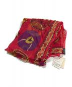 ()の古着「カレ90 belles du mexique スカーフ」 レッド