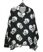 SUNSEA(サンシー)の古着「Keefs GIGOLO SHIRT シャツ」 ブラック