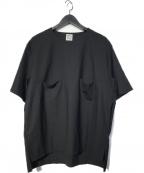 SUNSEA(サンシー)の古着「Layered Tail T-shirt Tシャツ」 ブラック