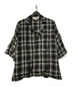 ()の古着「SHADOW CHECK FRIED SHRIMP SHIR」|ブラック