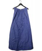 blanket(ブランケット)の古着「ノースリーブワンピース」|ブルー