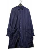 ()の古着「ロングSHコート」|ブルー