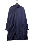 NO ID.(ノーアイディー)の古着「ロングSHコート」|ブルー
