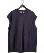 UNFIL(アンフィル)の古着「French Linen Honeycomb-Knit Ve」|パープル