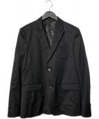 ()の古着「ギャバピークドジャケット」|ブラック