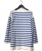 Le minor(ルミノア)の古着「バスクシャツ」 ホワイト×ブルー